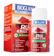 Bioglan Red Krill Oil + Glucosamine - Bổ khớp, bôi trơn khớp hiệu quả