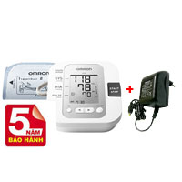 Combo máy đo huyết áp bắp tay JP01+ Bộ đổi điện Adapter Omron Nhật Bản