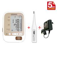 Combo máy đo huyết áp bắp tay JP600 + Bộ đổi điện Adapter chính hãng Omron Nhật
