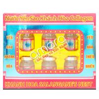 Nước Yến sào Khánh Hòa Sanest collagen (hộp 6 lọ x 70ml)