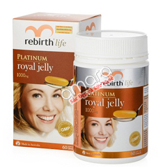 Viên uống sữa ong chúa Rebirth Life Platinum Royal Jelly 1000mg