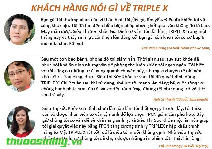 Triple X - Tăng cường testosterone, gia tăng khoái cảm tình dục vượt trội Feedback-triple-x
