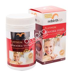 Viên uống nhau thai cừu Rebirth Life Platinum đậm đặc chính hãng 100%