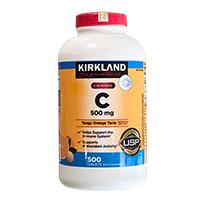 Viên uống Vitamin C 500mg Kirkland Signature chính hàng USA 100%
